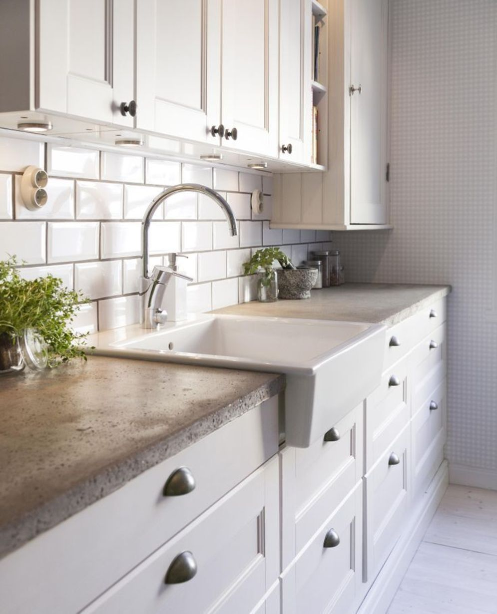Classy kitchen styles in bold display maximizing concrete benchtop designs Image 15