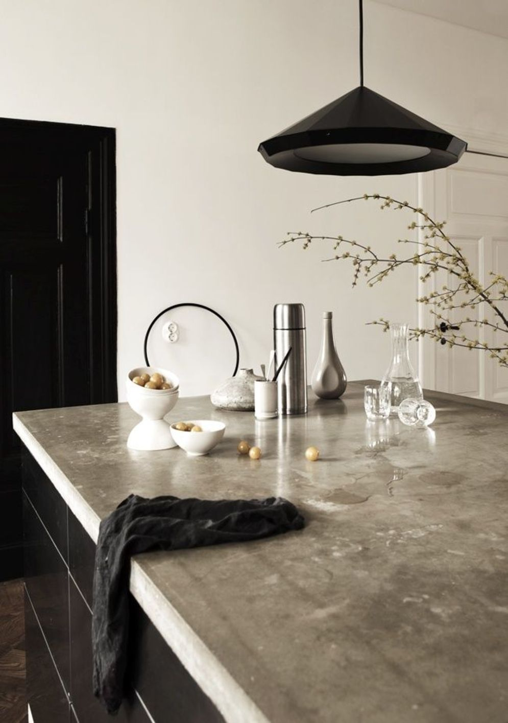 Classy kitchen styles in bold display maximizing concrete benchtop designs Image 5
