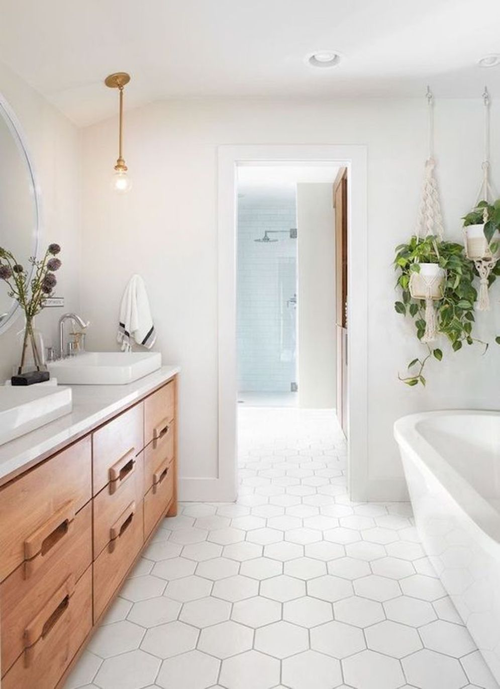 Most savvy bathroom designs with elegant wood finish to give more natural feel Image 15