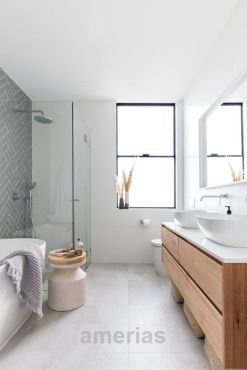Most savvy bathroom designs with elegant wood finish to give more natural feel Image 7