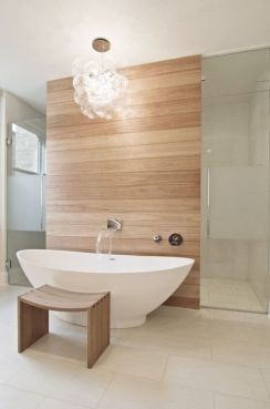 Most savvy bathroom designs with elegant wood finish to give more natural feel Image 8