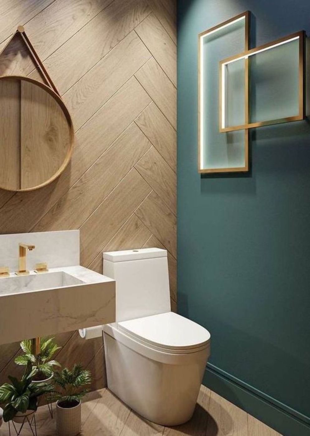 Timeless bathroom designs with wood accents enhancing more natural vibes Image 40