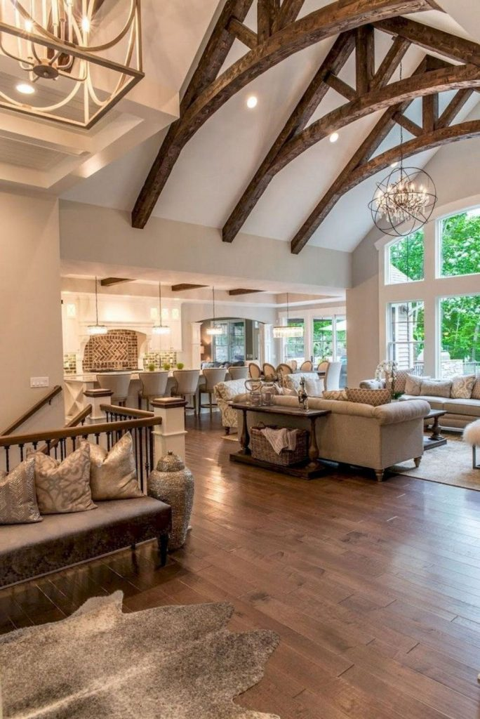 Classic home style with cathedral ceiling which looks gorgeous and grand along with classy interior taste Image 24