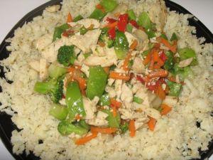 fried riced cauliflower