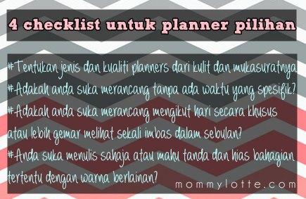 4 checklist untuk planner