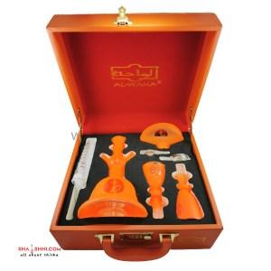 شيشة الواحة زجاج برتقالي