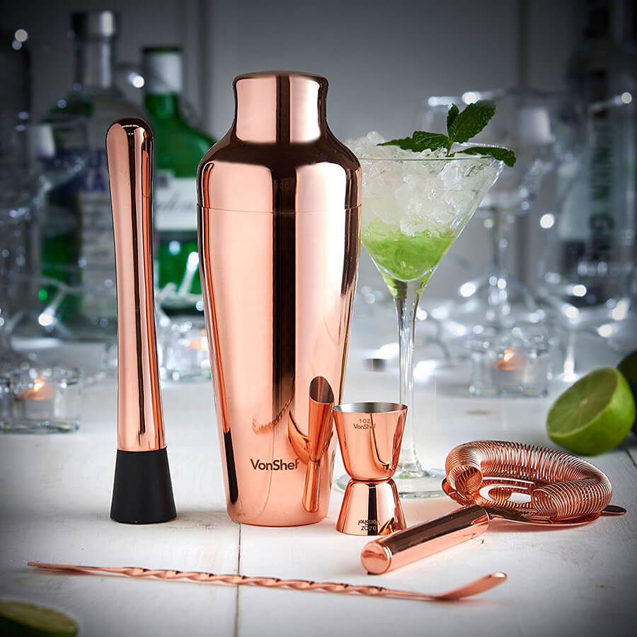 Premium Copper French Cocktail Set