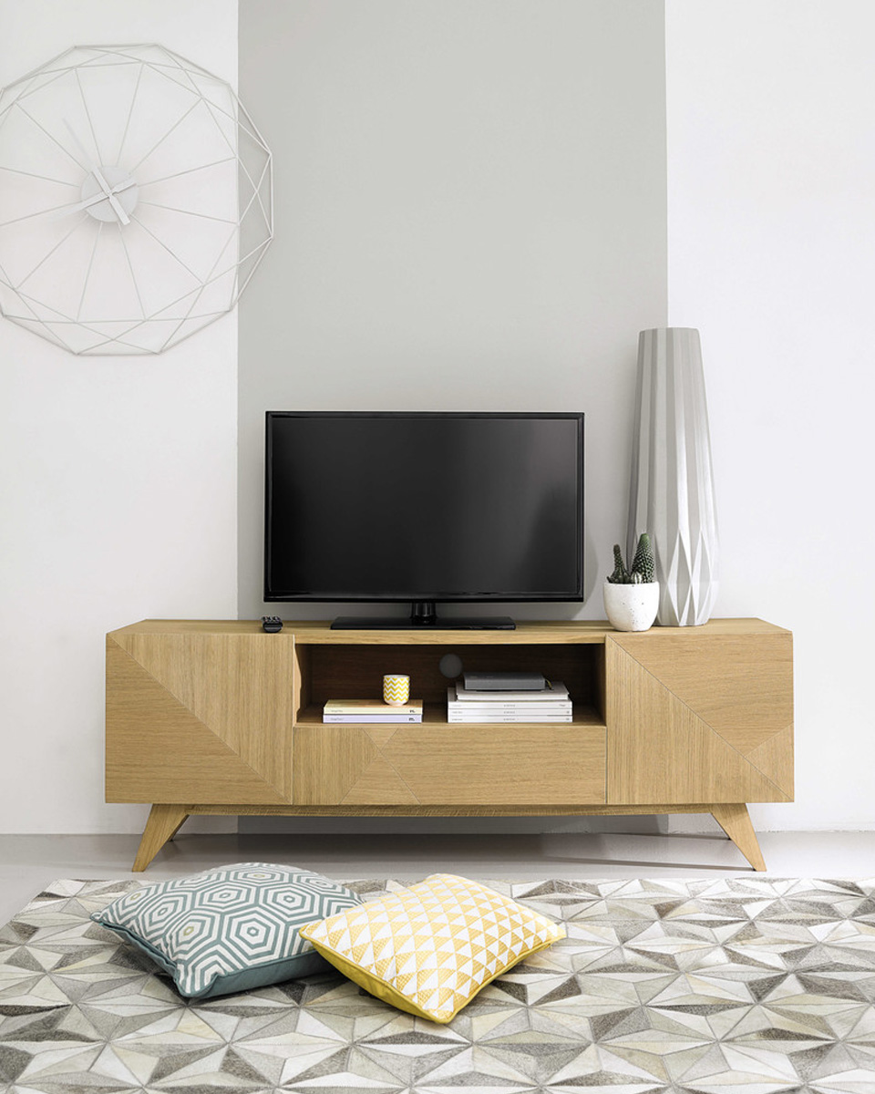Deco Meuble Tv Meuble Tv Laqu Blanc Bercy With Deco
