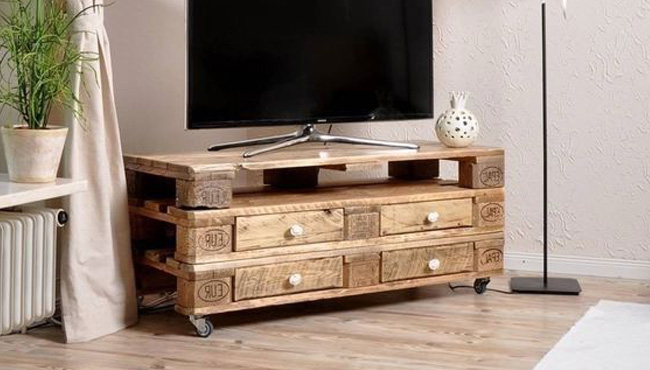 un meuble tv diy en palette shake my blog
