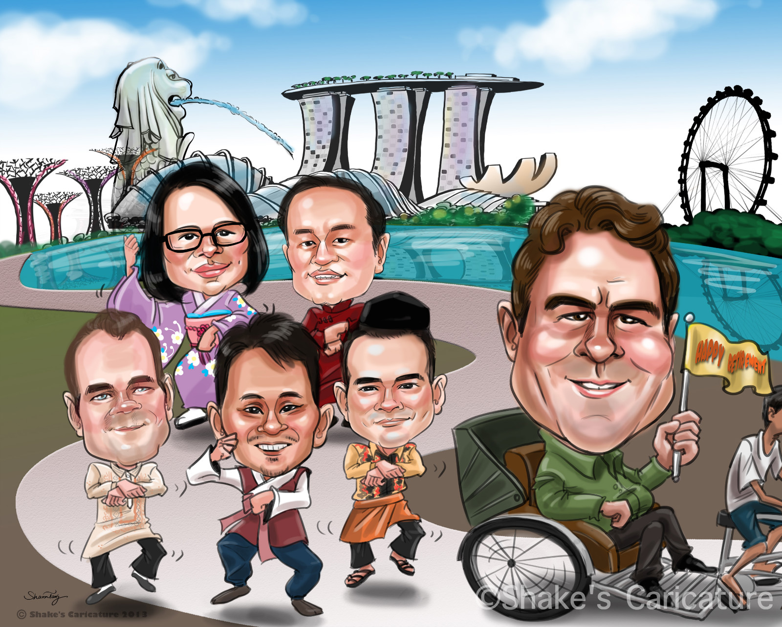 Custom Caricatures Shakes Caricature