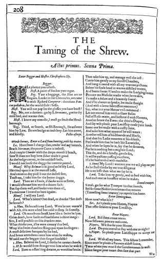 From the 1623 First Folio. (Copy 68 in the Folger Library Collection).