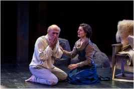 Tony Amendola (left) as Lear and Kelly Rogers as Cordelia in the Utah Shakespeare Festival's 2015 production of King Lear. (Photo by Karl Hugh. Copyright Utah Shakespeare Festival 2015.)