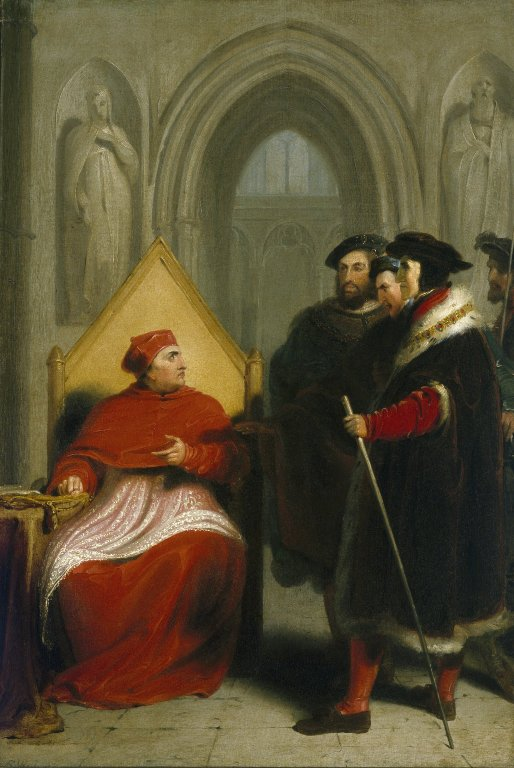 Richard Westall. Wolsey Disgraced. Oil on canvas, 1795