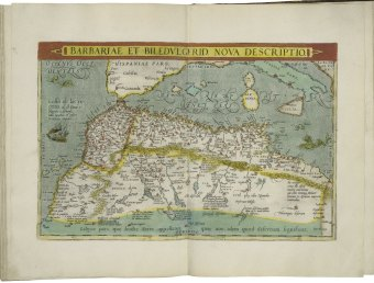 Map of Barbary from Abraham Ortelius. Theatrum orbis terrarum. London, 1606 (i.e. 1608?).