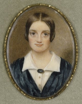 Rosalie Sully. Charlotte Cushman. Miniature on ivory, 1844. Folger Shakespeare Library.