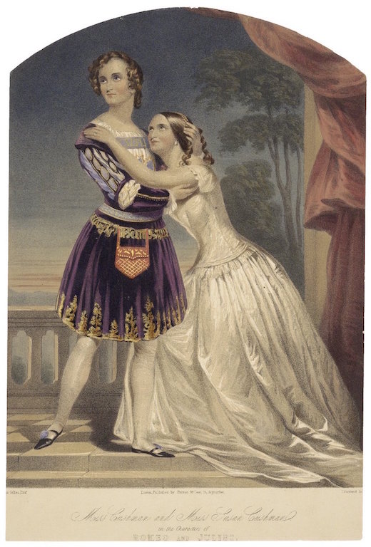Cushman sisters as Romeo and Juliet