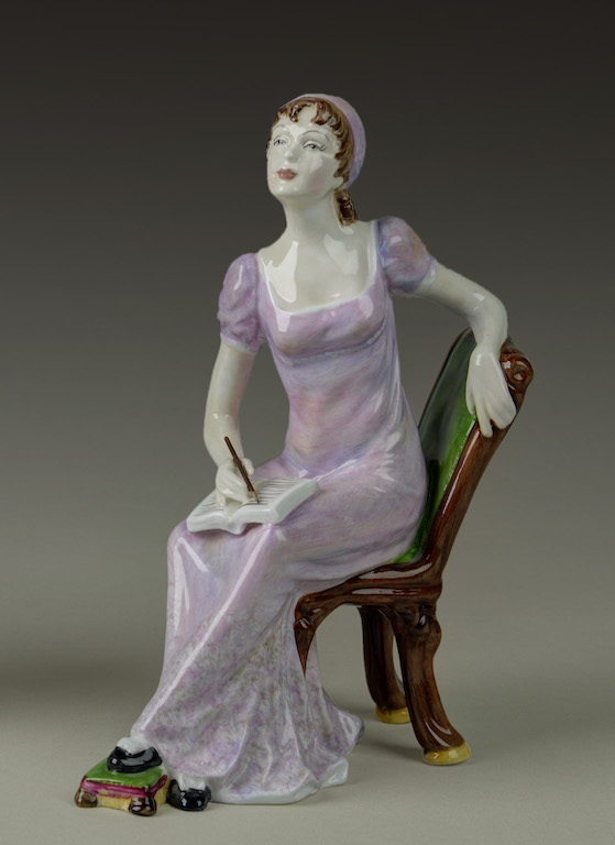 Jane Austen. Porcelain figure. Loan from private collector.