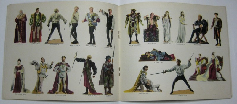 Hamlet cut-out figures center spread