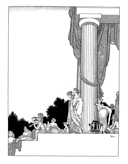 Theseus and Hippolyta. Shakespeare illustration by W. Heath Robinson