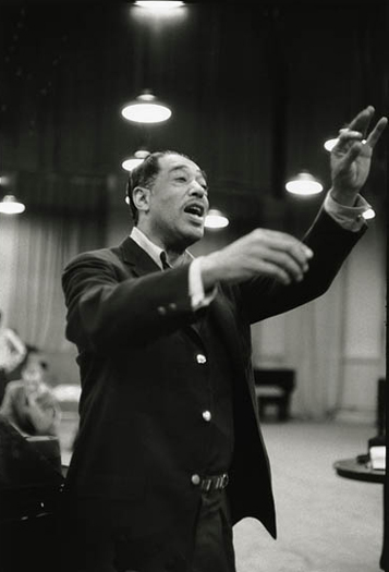 Duke Ellington conducting during the recording session for Such Sweet Thunder. © Don Hunstein.