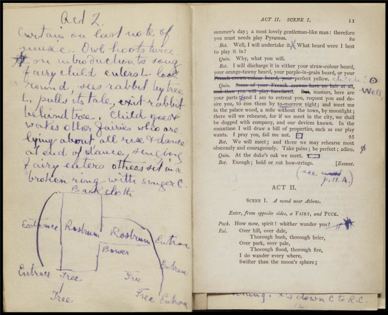 Promptbook for Herbert Beerbohm Tree's 'A Midsummer Night's Dream'