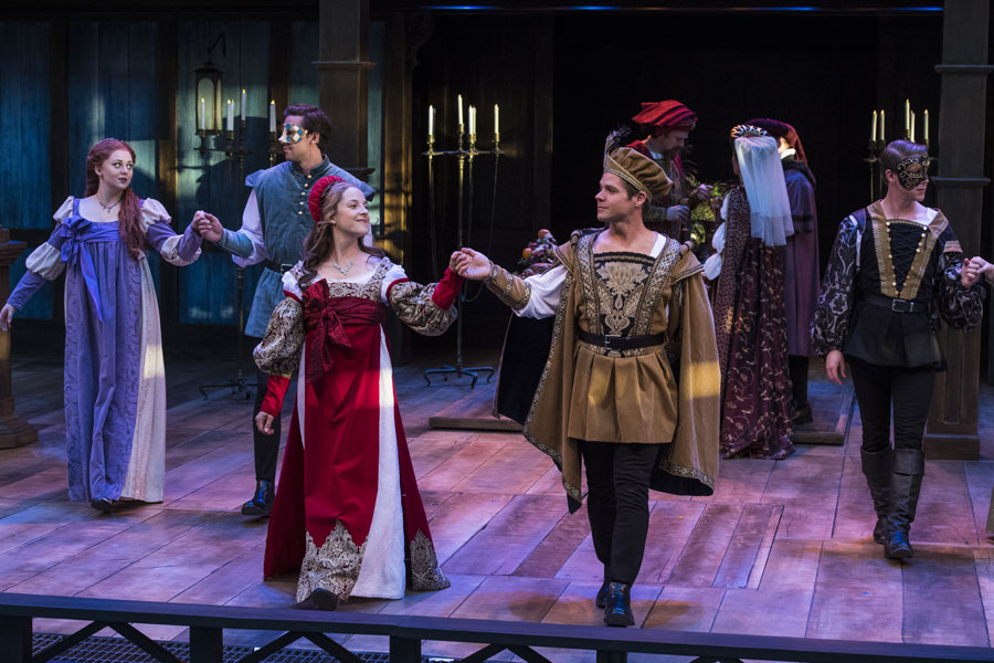 A scene from the Utah Shakespeare Festival's 2017 production of Romeo and Juliet. (Photo by Karl Hugh. Copyright Utah Shakespeare Festival 2017.)
