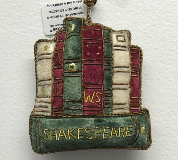 This Christmas ornament is one of five Christmas gift ideas for Shakespeare fans.