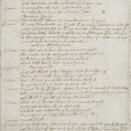 A manuscript copy of a Cambridge University play, Progress to Parnassus (c. 1601), that refers to Shakespeare as a poet and a playwright, citing and alluding to his works