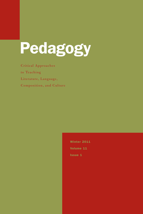 "Cover of Volume 11, Issue 1 of the journal ""Pedegogy"""