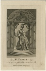 """An engraving of """"Mrs. Hartley in the character of Hermione in Shakespeare's """"The Winter's Tale."""" 1780 ART File H332 no.1 (size XS)."""