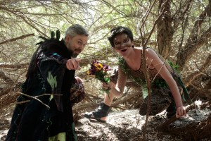 """Oberon and Puck conspire in San Francisco Shakespeare Festival's 2018 Free Shakespeare in the Park production of """"A Midsummer Night's Dream."""""""