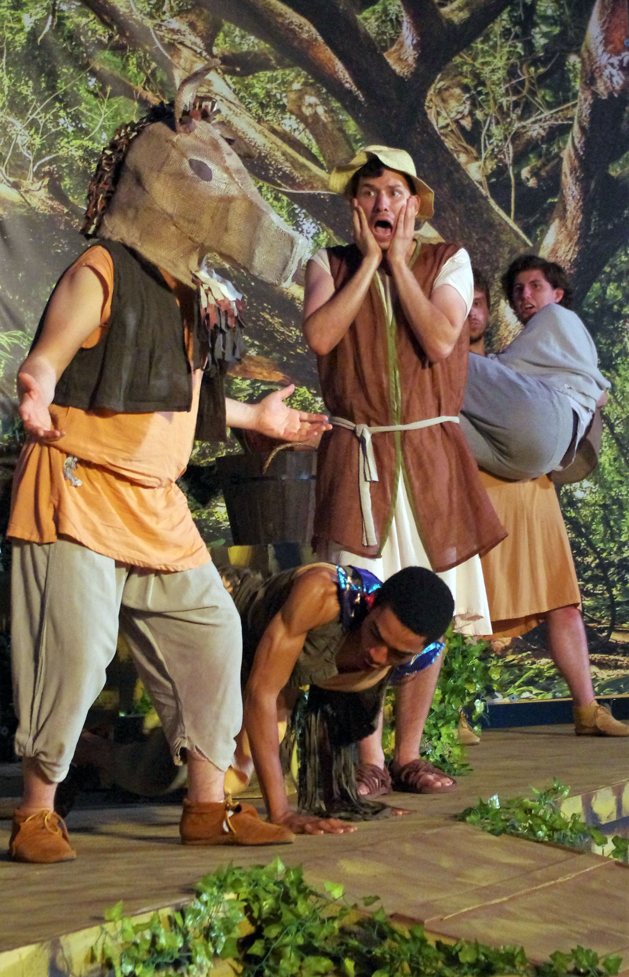 Bottom appears as an ass in the Chesapeake Shakespeare Company's production of Midsummer