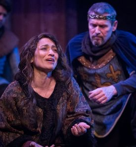 "Constance weeps in the Atlanta Shakespeare Company's ""King John"""