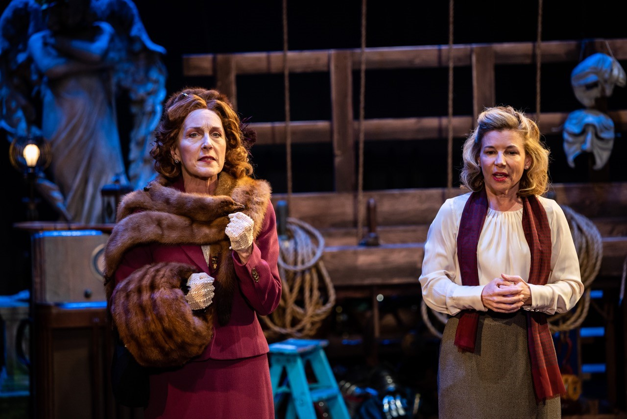 """Kari Ely, Katy Keating, Jacqueline Thompson, Mary McNulty and Michelle Hand in Shakespeare Festival St. Louis' """"Into the Breeches!"""" 2018. Photo: Phillip Hamer Photography."""