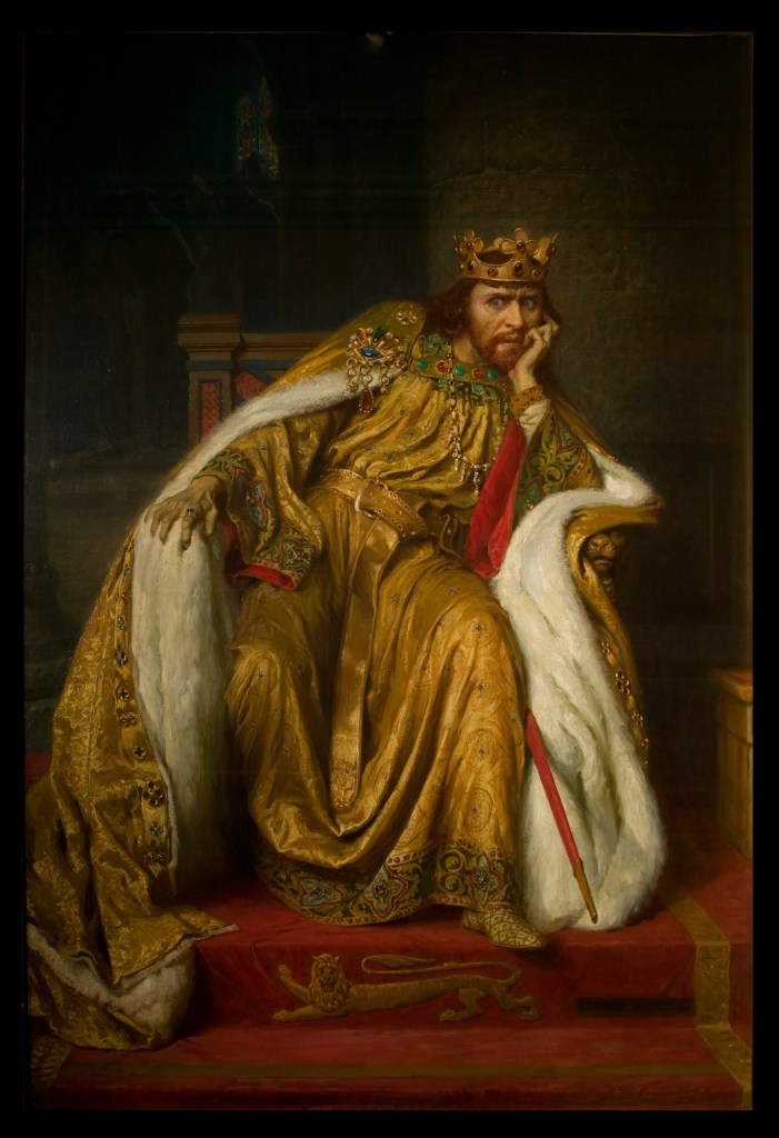 Herbert Beerbohm Tree as King John in King John by William Shakespeare. Oil on canvas. Charles Buchel, 1900. Victoria and Albert Museum.
