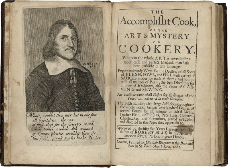 Robert May. The Accomplish't Cook. 1685. Folger Shakespeare Library.