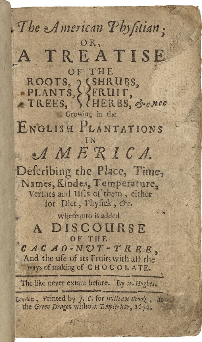 William Hughes. The American Physitian. 1672. Folger Shakespeare Library.