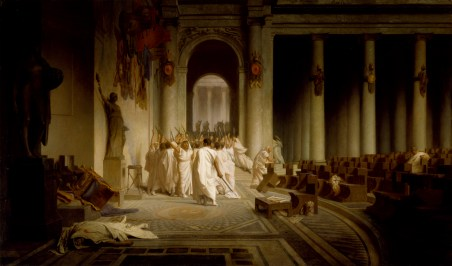 Jean-Léon Gérôme. 'The Death of Caesar,' 1867. oil on canvas. Walters Art Museum (37.884): Acquired by Henry Walters, 1917.