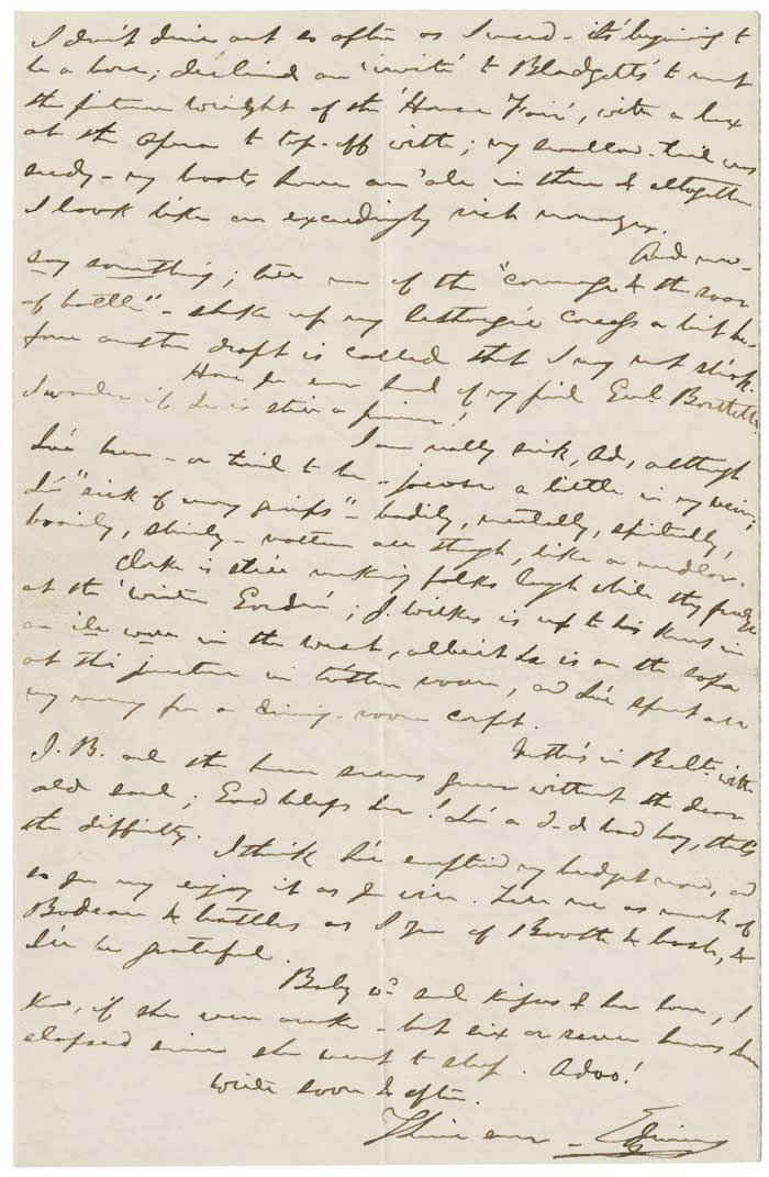 Edwin Booth letter in support of Abraham Lincoln