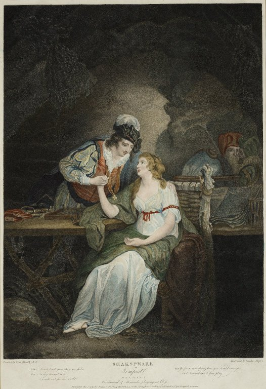 Miranda and Ferdinand in The Tempest