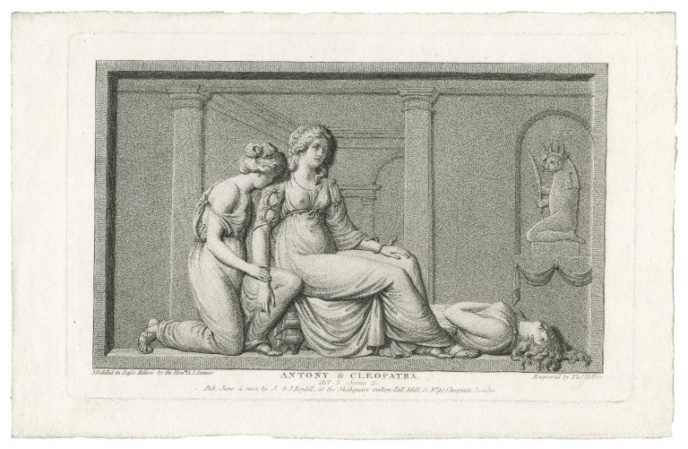 Damer sculpted, Hellyer engraved. Antony & Cleopatra, Act 5 Scene 2. Folger ART File S528a3 no.31