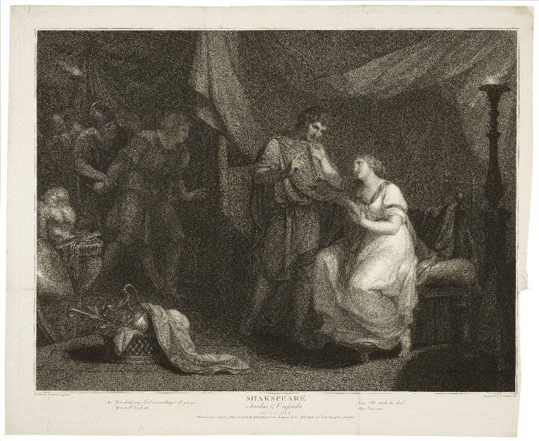 Angelica Kauffmann painted, Schiavonetti engraved. Troilus & Cressida, Act 5, scene 2 ART File S528t5 no.57