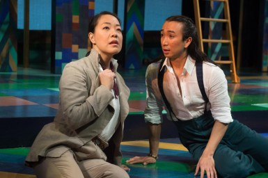 "Jessica Ko (Rosalind) and Román Zaragoza (Orlando), ""As You Like It,"" Oregon Shakespeare Festival. Photo: Jenny Graham."