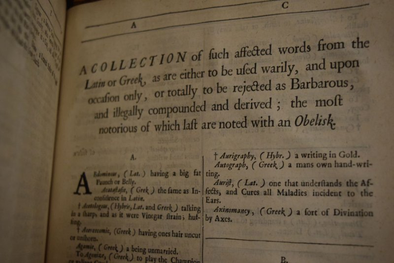 a photograph of a page in a dictionary by Edward Phillips