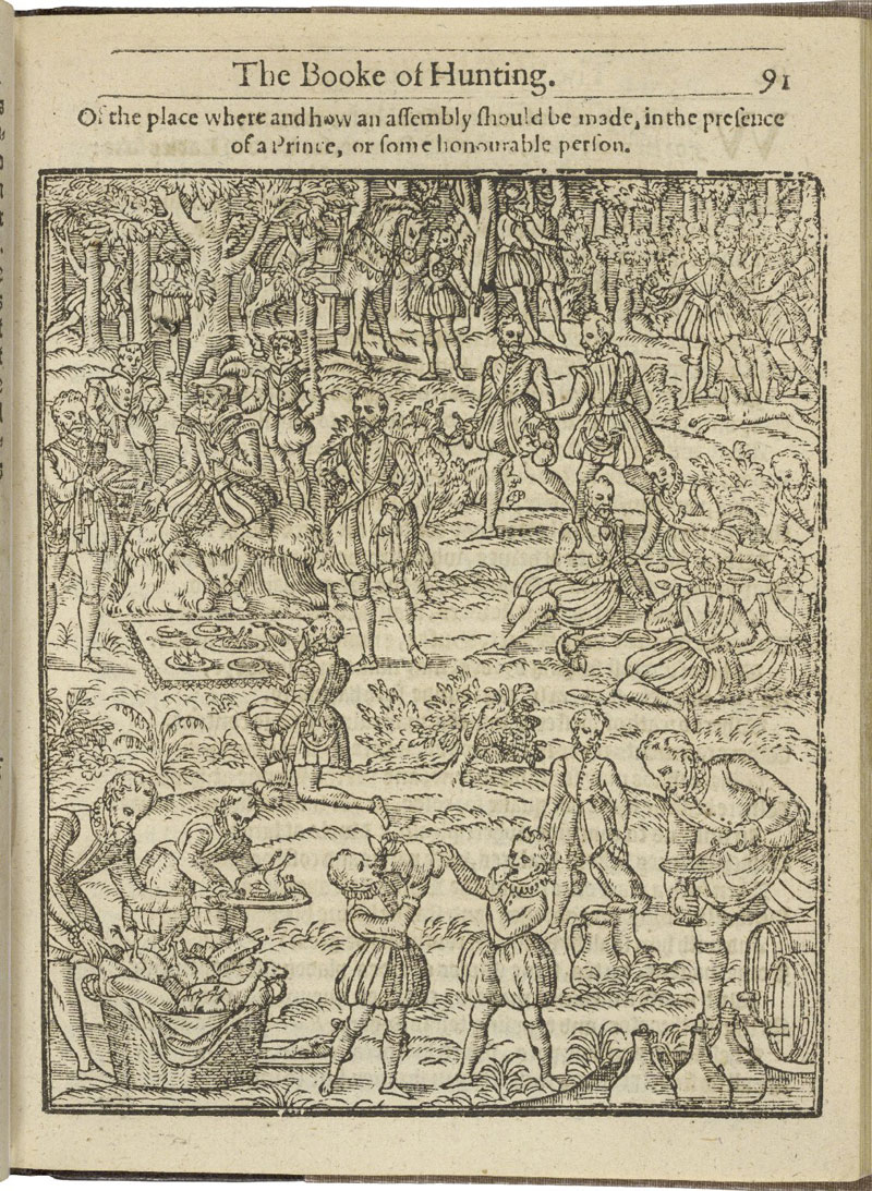 Hunting scene with James