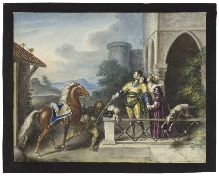 Lady Percy in a scene from Henry IV