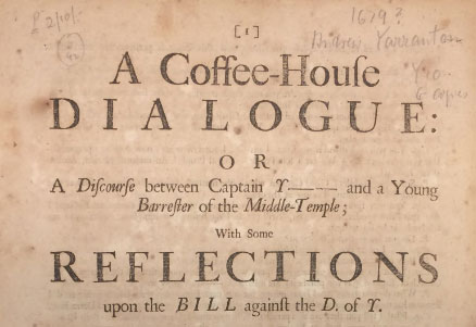 An example of the coffeehouse debate genre