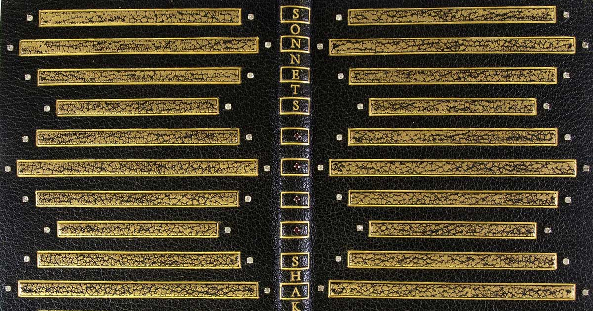 jeweled binding for Shakespeare sonnets