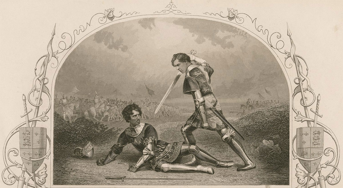 Hotspur and Prince Hal fighting