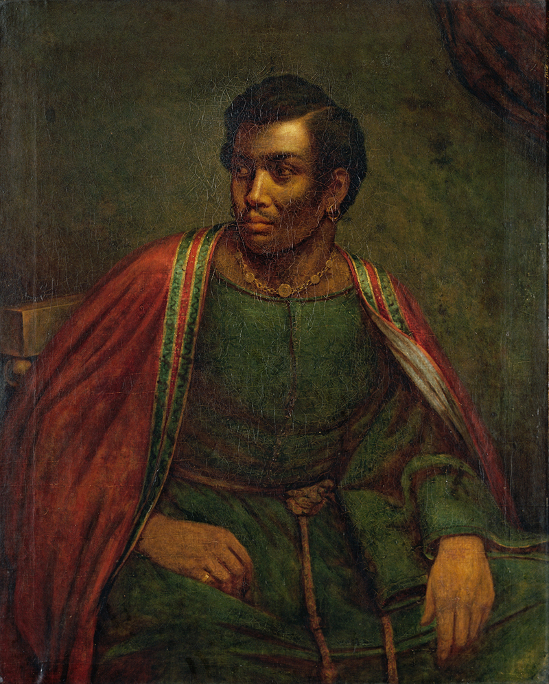 Oil portrait of actor Ira Aldridge in character as Othello